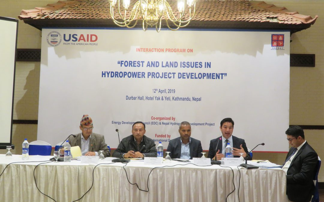 Forest and Land Issues for Hydropower Development